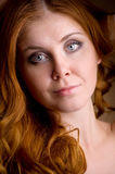 Portrait of a beautiful red-haired girl Royalty Free Stock Photography
