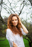 Portrait of a beautiful redhead girl Stock Image