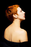 Portrait of beautiful redhead girl Royalty Free Stock Photography