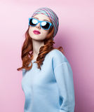 Portrait of a beautiful redhead girl Royalty Free Stock Image