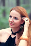 Portrait of beautiful redhead woman Stock Photo