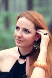 Portrait of beautiful redhead woman Stock Photo