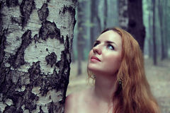 Portrait of beautiful redhead woman Royalty Free Stock Photo