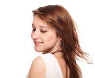 Portrait of beautiful redhead woman Royalty Free Stock Photo