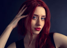 Portrait of a beautiful redheaded woman Stock Images