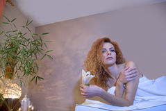 Portrait of a beautiful relaxed woman Stock Photos