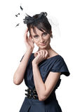 Portrait of a beautiful retro styled woman Royalty Free Stock Images