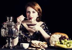 Portrait of beautiful rich russian women. Royalty Free Stock Photography