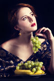 Portrait of beautiful rich russian women. Royalty Free Stock Images