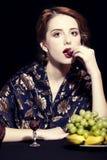 Portrait of beautiful rich russian women. Royalty Free Stock Photo