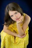 Portrait of beautiful sad little girl Stock Image