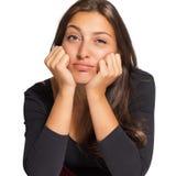 Portrait of beautiful sad woman Stock Images
