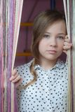 Portrait of a beautiful sad young girl. Portrait of a beautiful young girl Royalty Free Stock Photo