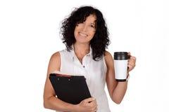School teacher with coffee mug. Royalty Free Stock Photos