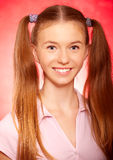 Portrait of  beautiful schoolgirl Royalty Free Stock Image