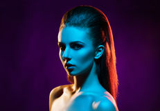 Portrait of a beautiful, seductive and young girl. Royalty Free Stock Photos