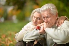 Portrait of beautiful senior couple Stock Image