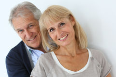 Portrait of beautiful senior couple isolated Royalty Free Stock Image