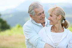 Portrait of beautiful senior couple Royalty Free Stock Photos
