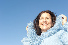 Portrait beautiful senior woman outdoor Royalty Free Stock Photo