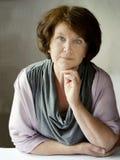 Portrait of a beautiful senior woman Stock Photography