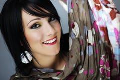Portrait of the beautiful, sensory. Beautiful sensory woman on the black background Royalty Free Stock Photo