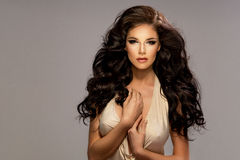 Portrait of beautiful sensual brunette woman Stock Photography