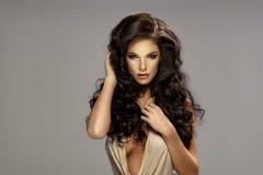 Portrait of beautiful sensual brunette woman Royalty Free Stock Photo