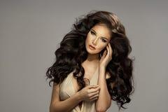 Portrait of beautiful sensual brunette woman Royalty Free Stock Image