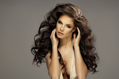 Portrait of beautiful sensual brunette woman Royalty Free Stock Images