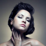 Portrait of beautiful sensual woman Stock Photo