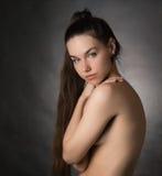 Portrait of beautiful sensual woman. Stock Photo