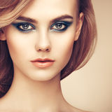 Portrait of beautiful sensual woman with elegant hairstyle Royalty Free Stock Photos