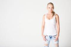 Portrait of beautiful sensuality blonde woman Stock Image