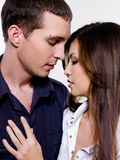 Portrait of beautiful sexual couple Stock Photos