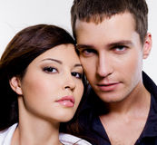 Portrait of beautiful sexual couple Royalty Free Stock Photography