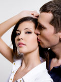 Portrait of beautiful sexual couple Stock Photography