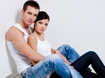 Portrait of beautiful sexual couple Royalty Free Stock Photos