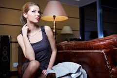Portrait of a beautiful sexual female model Royalty Free Stock Photography