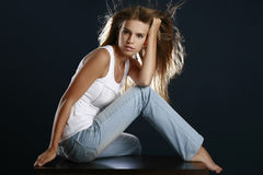 Portrait of the beautiful sexual woman Stock Photography