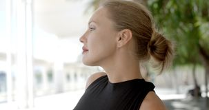 Portrait of Beautiful and Sexy Business Woman stock footage