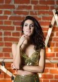 Portrait of beautiful sexy fashion model Royalty Free Stock Photography