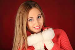 Portrait of beautiful sexy girl celebrating christmas party Royalty Free Stock Photography