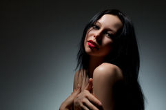 Portrait of a beautiful sexy girl Stock Images