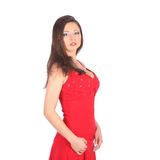 Portrait of beautiful sexy girl wearing santa Royalty Free Stock Image