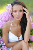 Portrait of a beautiful woman on the beach Royalty Free Stock Photography