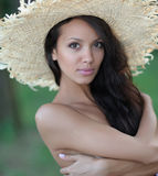 Portrait of a beautiful woman on the beach Royalty Free Stock Image