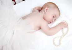 Portrait of a beautiful sleeping baby Stock Photos