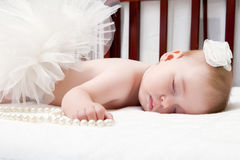Portrait of a beautiful sleeping baby Royalty Free Stock Photos