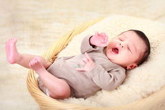 Portrait of a beautiful sleeping baby Royalty Free Stock Photography